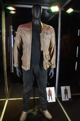 star wars finn leather jacket - BY MICHAEL KAPLAN COSTUME DESIGNER