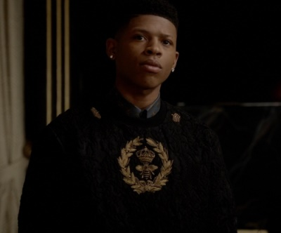 Bryshere Gray Hakeem Lyon Empire Fashion - Dolce & Gabbana - Brocade Bee and Crown Embroidery Pullover