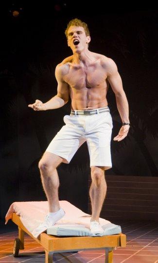 Jay Armstrong Johnson gay or straight - shirtless - pool boy