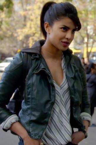 Priyanka Chopra alex parrish quantico jackets leather- free people hooded vegan moto jacket2