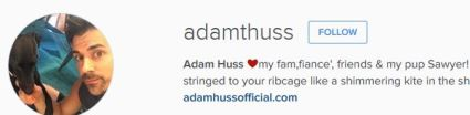 adam huss boyfriend or fiance