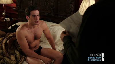 ben cura shirtless underwear - the royals