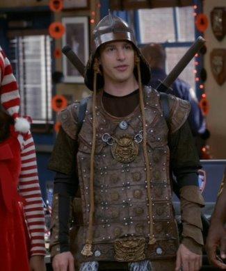 brooklyn nine-nine andy samberg jake peralta - incharacter genghis khan samurai costume