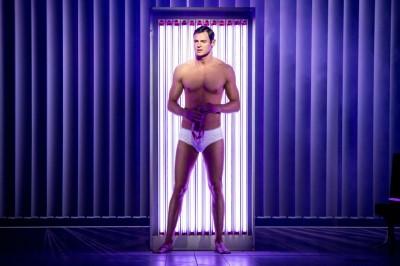 celebrity tighty whitie briefs underwear 2016 - benjamin walker as patrick bateman