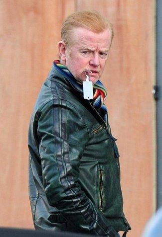chris evans green leather jacket - side