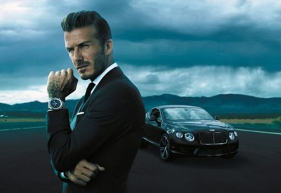 david beckham Bentley Bentayga and breitling