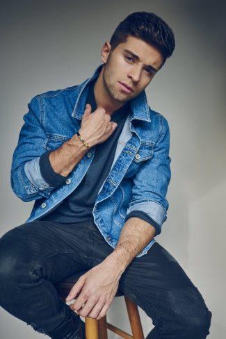 blue denim jacket 2016 - jake miller - wilhelmina