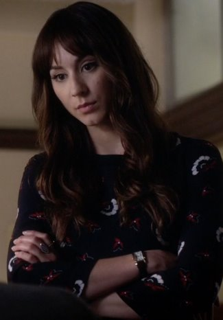 female celebrity cartier watch - Tank Americaine White Gold Midsize Watch - spencer hastings - troian bellisario in pll