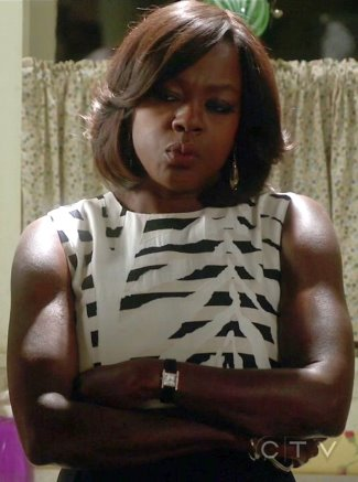 female celebrity cartier watch - annalise keating viola david cartier tank americaine