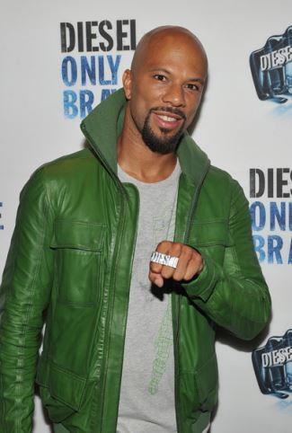 green leather jacket - common - rapper