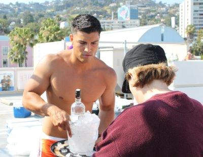 hot bartenders - waiters in boxers