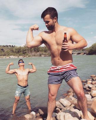 hot guys in shorts - simon dunn - swim shorts