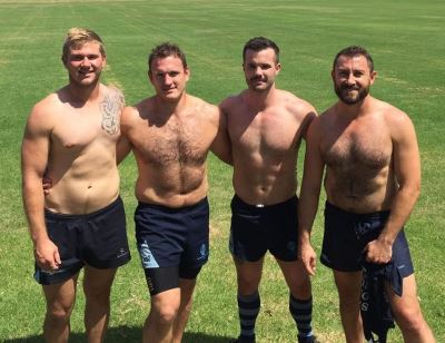 hot guys in shorts - simon dunn - with Sydney Convicts Rugby Club