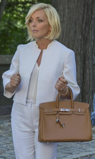 kimmy schmidt bags and shoes - jacqueline - hermes birkin gold togo leather bag