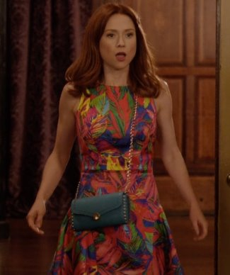 kimmy schmidt dress - milly tropical print fit and flare dress