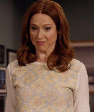 kimmy schmidt elle kemper fashion - madchen desert ikat sweatshirt
