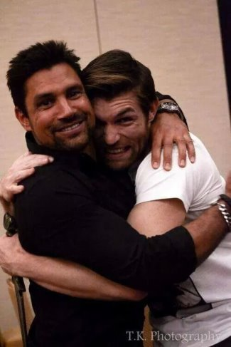 manu bennett gay or straight - gay with liam mcintyre