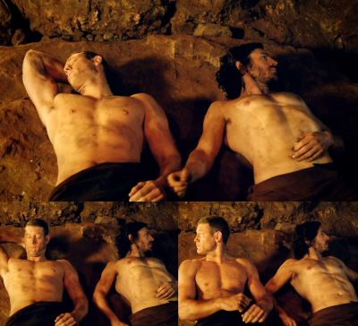 tom hopper gay or straight - gwaine and percival5
