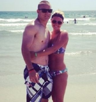 mike trout shirtless with girlfriend