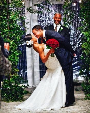 tj holmes married wedding wife