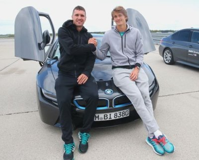 Alexander Zverev with brother mischa - bmw open munich 2016