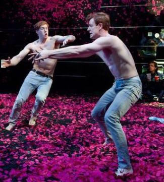 Nick Gehlfuss shirtless - as lysander in midsummer nights dream