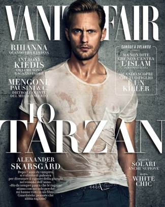 hot guys wet shirt alexander skarsgard - vanity fair italy