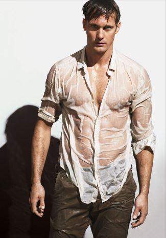 alexander skarsgard hot guy wet shirt - vogue magazine