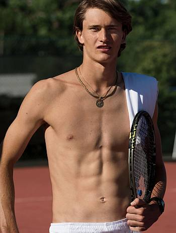 alexander zverev shirtless body