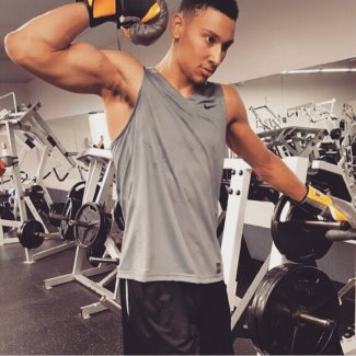 ben simmons hot biceps - nba