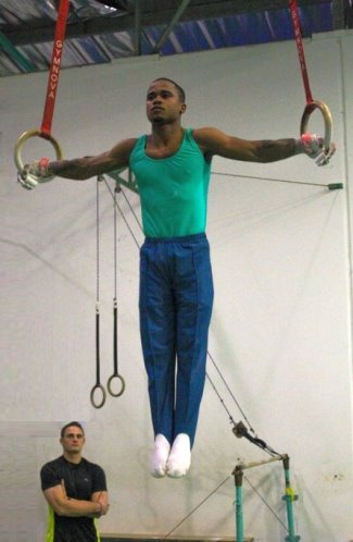 black male gymnasts - Siphamandla Ngcobo of South Africa2