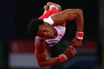 black male gymnasts - Siphesihle Biyase
