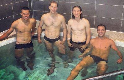 cesc fabregas underwear - Chelsea players Cesar azpilicueta - peter CECH - felipe luiz - Cesc Fabregas