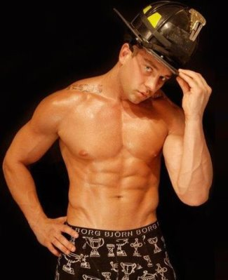 fireman underwear - taylor murphy fdny in bjorn borg boxer briefs