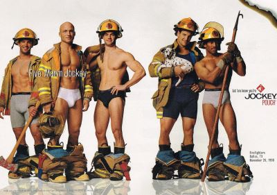 firemen underwear - dallas firefighters in jockey