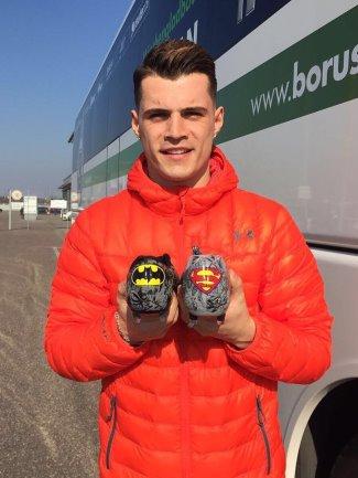 granit xhaka ua cluthfit shoes - batman superman