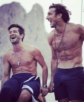 hot male tennis stars - juan monaco with male friend