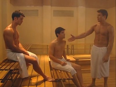 lenny platt shirtless with  David A Gregory and Nicolas Robuck - ford bros in one life to live2
