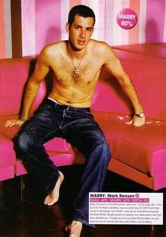 mark ronson shirtless chest hair