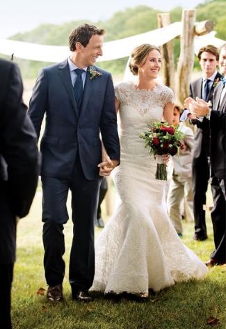 seth meyers wedding - wife Alexi Ashe