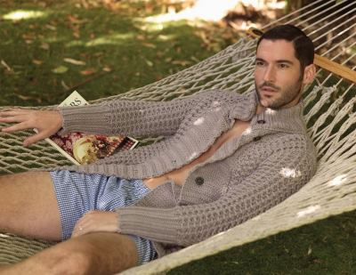 tom ellis underwear - plaid boxer shorts