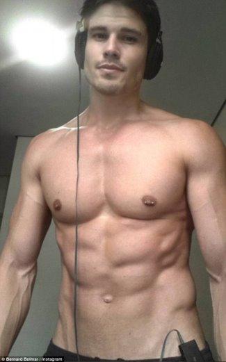 Bernard Belmar shirtless body - laura carter ex