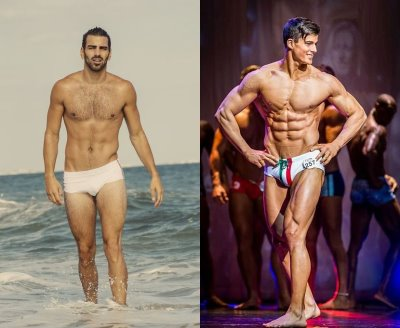 best celebrity speedo swimsuit 2016 - nyle dimarco vs pietro boselli