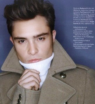 ed westwick turtleneck - paul stuart cashmere turtleneck