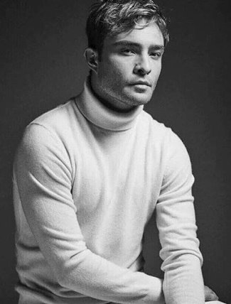 ed westwick turtleneck sweater
