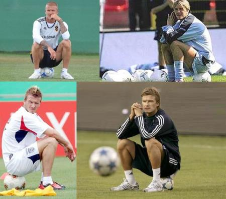 david beckham gay evidence - loves to sits on balls