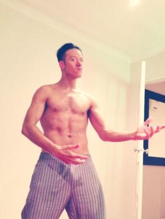 kevin clifton shirtless hot body