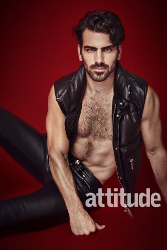 male celebrity leather pants nyle dimarco by jenny brough for attitude magazine