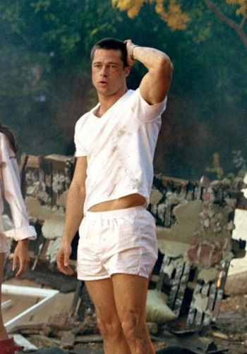 movie actors underwear scenes - brad pitt mr and mrs smith