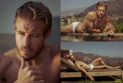 tight speedo man trevor donovan white speedo